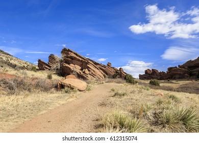 Hiking Trail at Red Rocks Park in Denver, Colorado