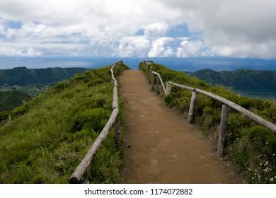 hiking trail at Sete Cidades