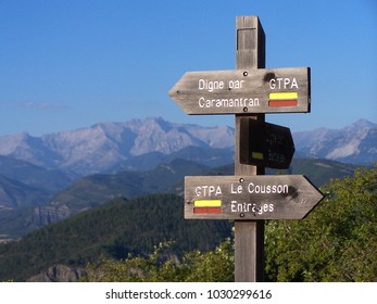 Hiking Trail Sign in Provence - South of France