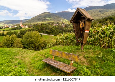 hiking trail in South Tyrol near Brixen, Italy