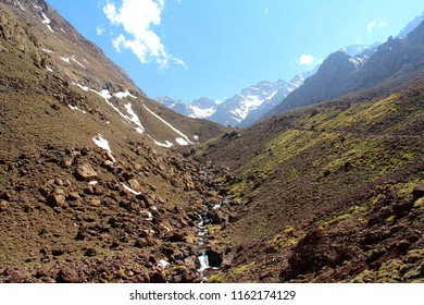 Hiking trail to the top of Mount Toubkal - Morocco