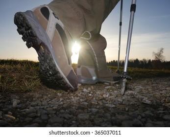 hiking trekking boots outdoors