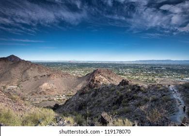 Hiking in the wilderness around Phoenix, Arizona