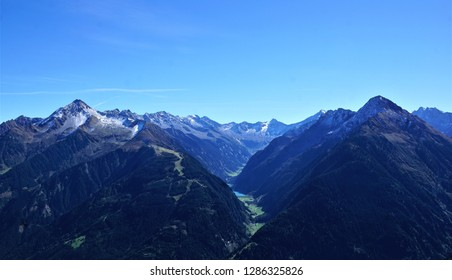 Hiking in Zillertal in Austria in summer time