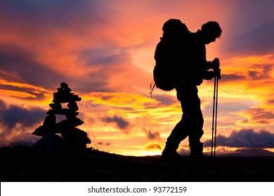 Hikking at Sunrise