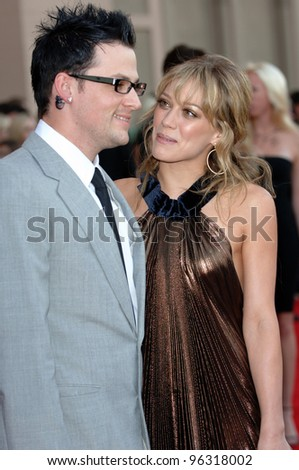 HILARY DUFF & boyfriend JOEL MADDEN at the 2005 American Music Awards in Los Angeles. November 22, 2005; Los Angeles, CA:    Paul Smith / Featureflash