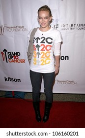 Hilary Duff   at the Stand Up To Cancer Charity Merchandise Launch. Kitson, Los Angeles, CA. 12-10-08