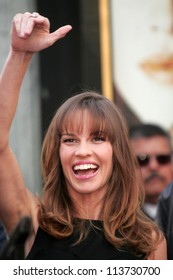 Hilary Swank at the ceremony honoring her with the 2,325th star on the Hollywood Walk of Fame. Hollywood Boulevard, Hollywood, CA. 01-08-07