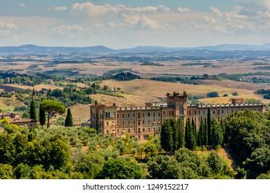 the hill all around Siena, Toscany, Italy