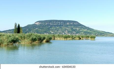 Hill Badacsony from lake Balaton, Hungary
