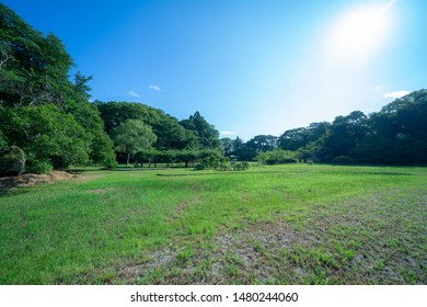 Hill and blue sky in Matsushima
