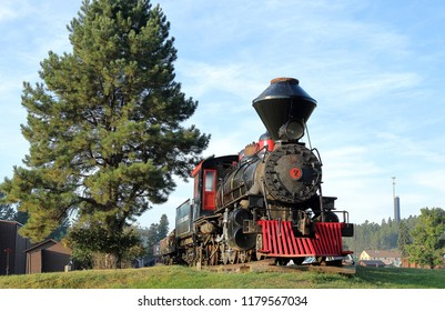 Hill City, South Dakota - September 3, 2018: 1880 Steam Train