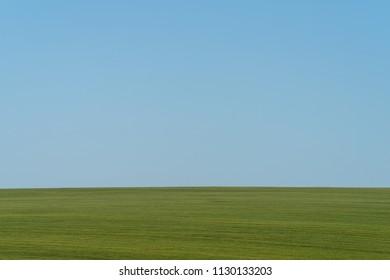Hill and countryside in Podolia region of Ukraine