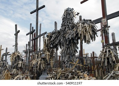 The Hill of Crosses , a famous site of pilgrimage in Poland.