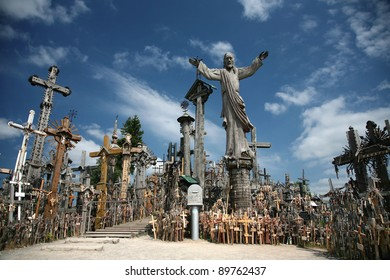 Hill of Crosses near Šiauliai, Lithuania.