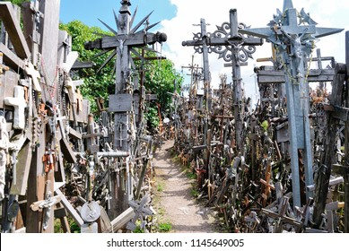The Hill of Crosses - a site of pilgrimage near the city of Šiauliai, in northern Lithuania