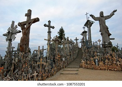 Hill Of Crosses, a unique monument of history and religious folk art, Siauliai, Lithuania, Europe