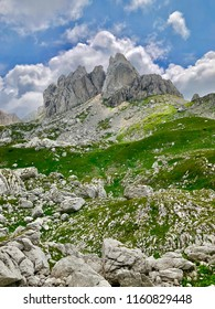 Hill and hiking in summer in Durmitor in Montenegro