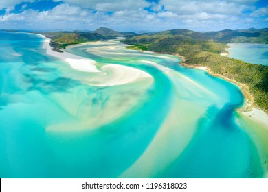 Hill Inlet at Whitehaven Beach on Whitesunday Island, Queensland