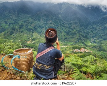 Hill tribe girl in Northern of Vietnam