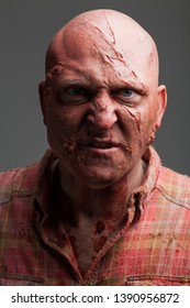 Hillbilly Slasher / Horror Villain, Bald Caucasian Male