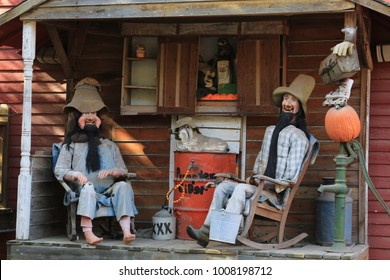 Hillbilly's gossiping on Front Porch