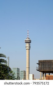 Hillbrow Tower above the suburb of Hillbrow, in Johannesburg, South Africa
