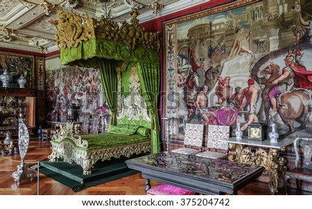 7b8f29c57f2 HILLEROD, DENMARK - 2014 JUN 08: Interior (One of the rooms of Frederiksborg