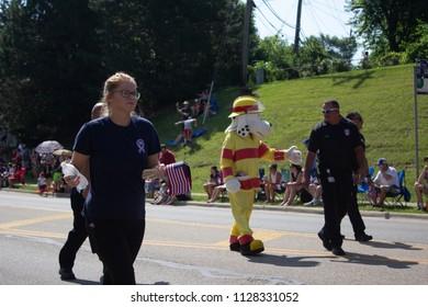 Hilliard, Ohio / USA - 7-4-18: Fourth of July Parade