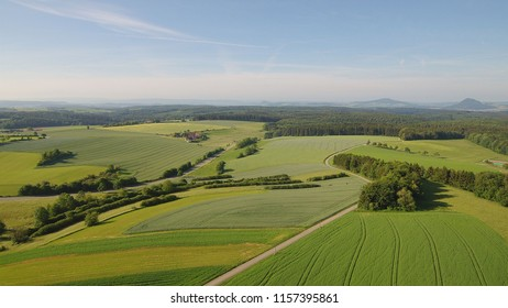 Hills in Hegau in South Germany