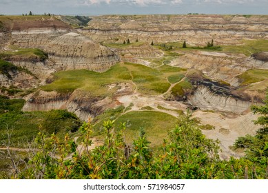 Hills in the Horseshoe Canyon, Drumheller, Alberta, Canada.