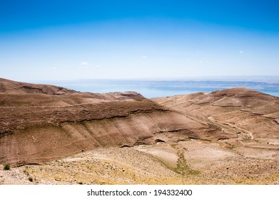 Hills of Jordan with the Dead Sea background