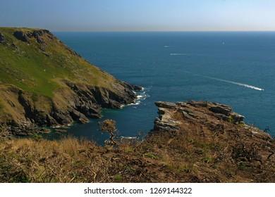 Hills over the waters of Salcombe, Devon, UK
