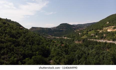 hills and roads