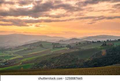 The hills in the southwest of Bologna; Bologna province, Emilia Romagna, Italy.