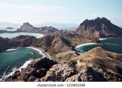 Hills of tropical islands in dry season