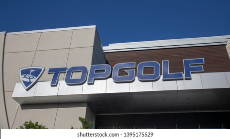 Hillsboro, Oregon - May 11, 2019 : TopGolf, Entertainment venue with swanky lounge with drinks & games