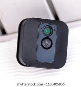 Hillsboro, Oregon/USA - September 25 2018: Blink XT Outdoor security camera