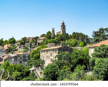 Hillside village on Bonnieux, France
