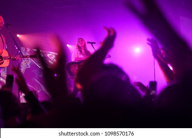 Hillsong Worship performing during a concert in Saint Louis Missouri on April 10th 2018