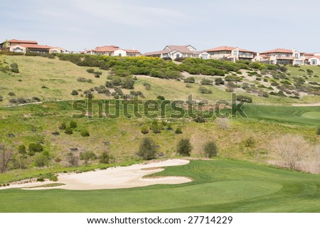 Hilltop homes overlooking golf