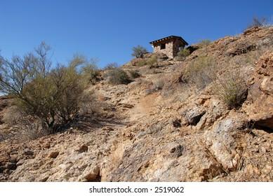 Hilltop hut, Gates Pass, Tucson, Arizona