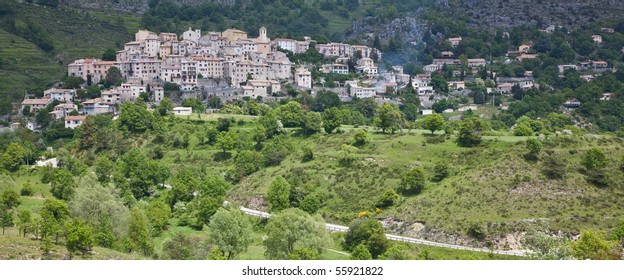 Hilltop town of Coursegoules in Provenece