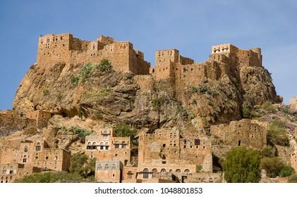 Hilltop village in the Haraz Mountains of Yemen