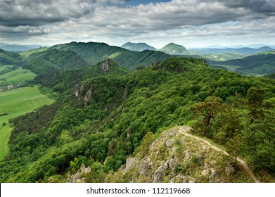 Hilly landscape under a cloudy sky, Slovakia