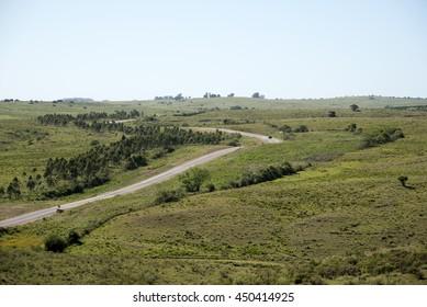 Hilly road,Minas,Uruguay