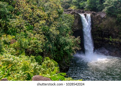 Hilo, Hawaii / USA - April 19th 2009: Rainbow Waterfalls in Big Island