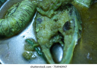 Hilsha fish cuisine in Bengali New Year for Bangladeshi culture. Tenualosa ilisha (ilish, hilsa, hilsa herring/ hilsa shad) is Bangladesh's national fish. A popular food fish in South Asia.
