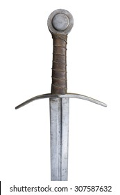 The hilt of a medieval sword.