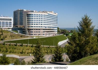 Hilton Garden Inn Ufa Riverside Hotel On The Slope Of The Hill Over The  Belaya (